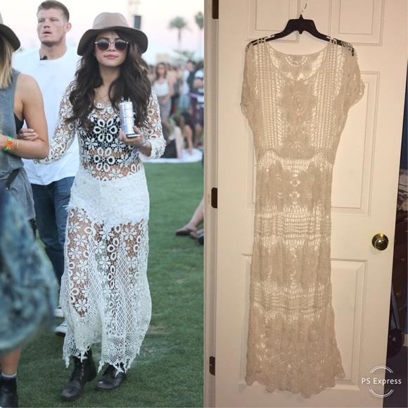 5126ab383a08 Charlotte Russe Dresses & Skirts - (FP) Selena Gomez Inspired Maxi Boho  Lace Dress